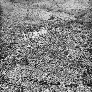 """Survols: Aerial Photography Of Cities"" At CAUE92 La Galerie, Nanterre, France"