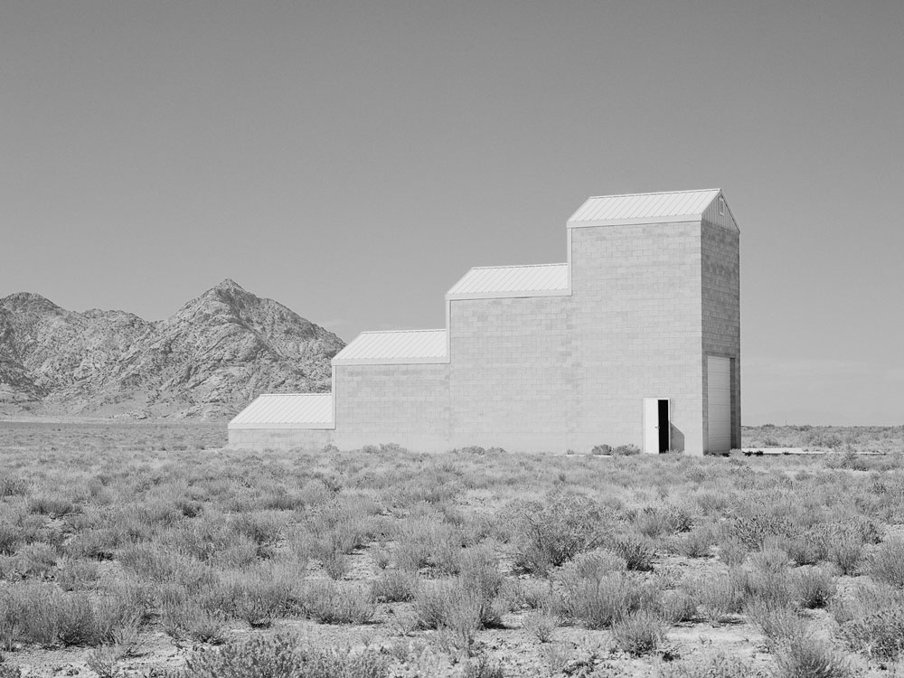 "Air Force Targeting Grid Building, Dugway Proving Ground, Utah Archival pigment print, 17"" x 23"""