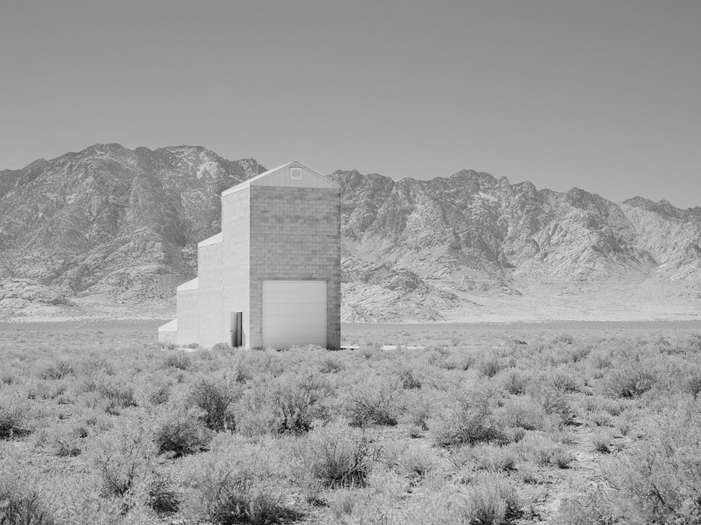 "Air Force Targeting Grid Building, Dugway Proving Ground, Utah Archival pigment print, 17"" x 23"""